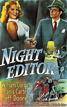 Film Noir Poster Night Editor by R Muirhead Art