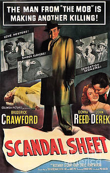 Film Noir Poster  Scandal Sheet by R Muirhead Art
