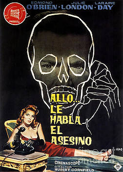 Film Noir Poster  The Third Voice by R Muirhead Art