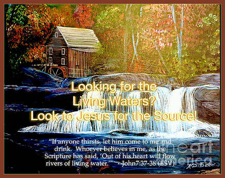 Finding the Living Waters with Text by Kimberlee Baxter