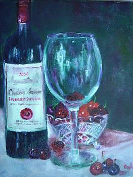 Fine wine paintings - MERLOT CABERNET SAUVIGNON by Virgilla Lammons