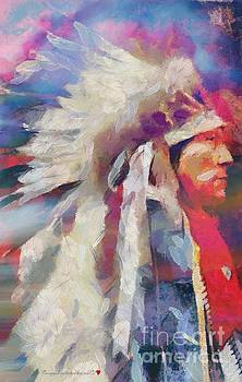 Finished Indian feathers Painting by Catherine Lott