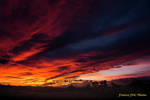 Fire in Sky  by Francoise Dugourd-Caput