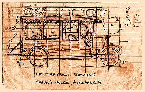 Fire Truck Bunk Bed by Larry Campbell