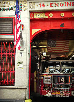 Firefighters of New York - Engine Sweet 14 by Miriam Danar
