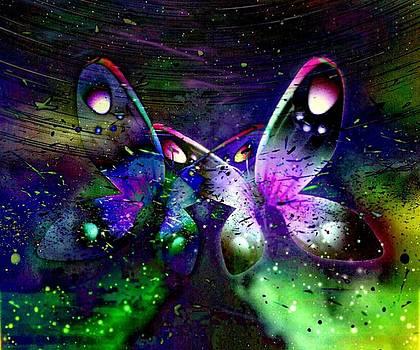 Fireflies And Butterflies by Karen Conine