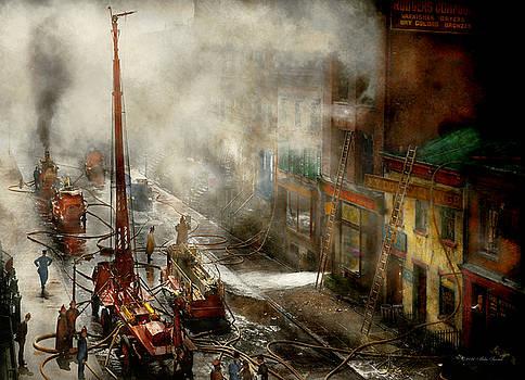 Mike Savad - Fireman - New York NY - Big stink over ink 1915