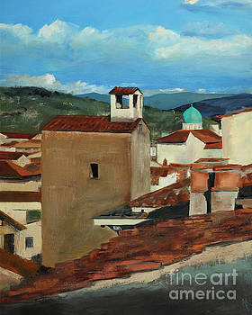 Firenze Distant Synagogue by Alyson Kinkade