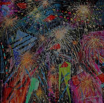 Fireworks in the City by Teodoro  De La Santa