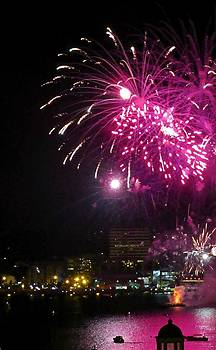 Crystal Loppie - Fireworks over Halifax Harbor