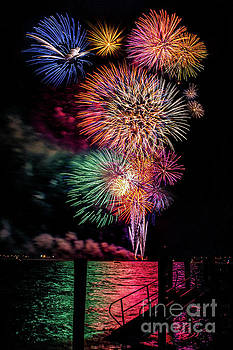 Fireworks over the Bay by Nick Zelinsky