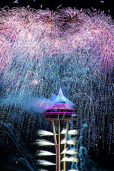 Fireworks - Space Needle by Hisao Mogi