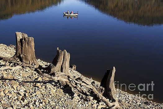 BERNARD JAUBERT - Fishermen. Lake of  Auvergne. France