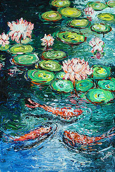 Fishes in LOTUS pond by Nandita  Richie