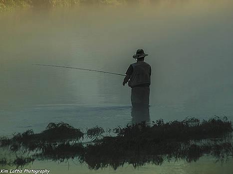Fishing On The White River  by Kim Loftis