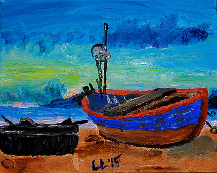 Fishing Boats by Laura Lawless
