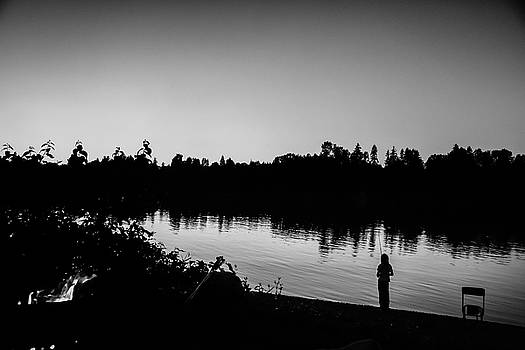 Fishing in Black and White by Monte Arnold