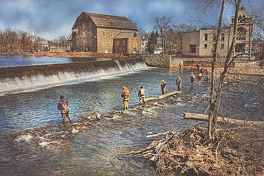 Fishing In Clinton by Pat Abbott