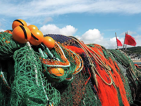 Fishing Nets At The Cobb by Susie Peek