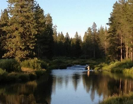 Fishing Upstream by Linda Seifried