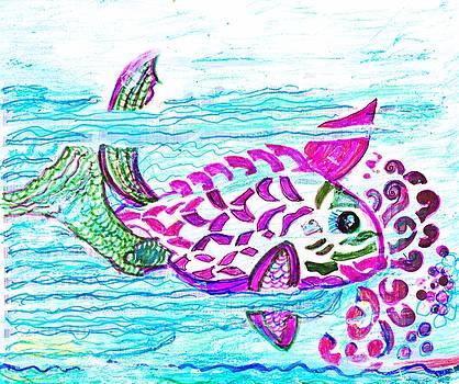 Fishy Wishy Frolicking by Anne-elizabeth Whiteway