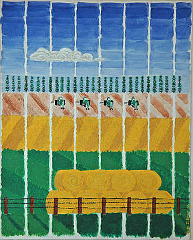 Five Tractors by Jesse Jackson Brown