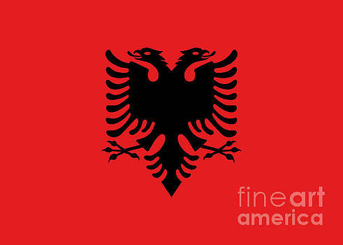 Flag of Albania authentic version by Bruce Stanfield