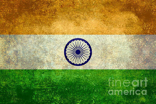 Flag of India Retro Vintage version by Bruce Stanfield