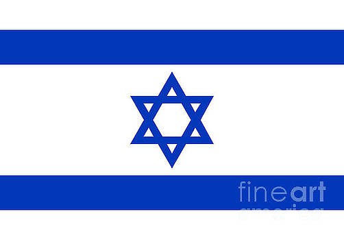 Flag of Israel Authentic version by Bruce Stanfield