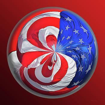 Flag Orb by Phyllis Denton