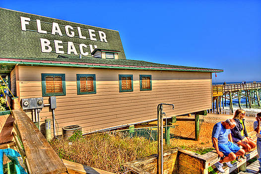 Flagler Pier Postcard by Andrew Armstrong  -  Mad Lab Images