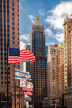 Flags over Chicago by Andrew Soundarajan