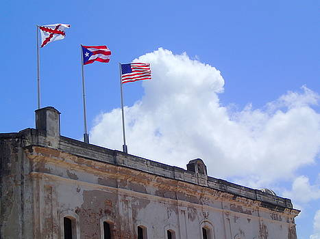 Flags over San Cristobal by Lois Lepisto