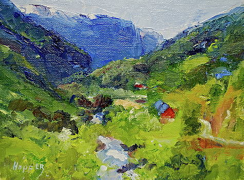 Flam Valley Norway by Carol Hopper