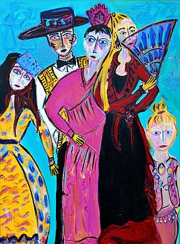 Flamenco Dance Troupe by Maggis Art