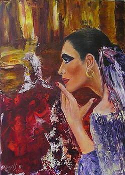 Flamenco dancer  MB by Sylva Zalmanson