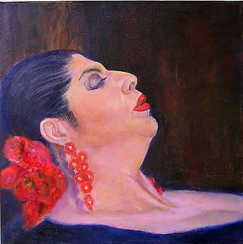Flamenco singer by Sylva Zalmanson
