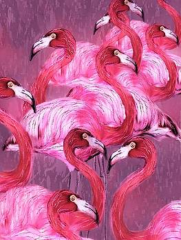 Flamingo Art by Barbara Chichester
