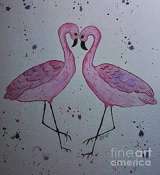 Flamingo Dance by Ginny Youngblood