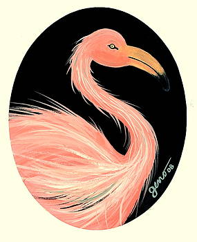 Flamingo deco by Helen Gerro