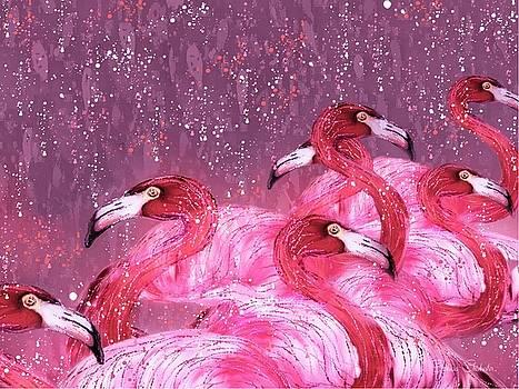 Flamingo Frenzy by Barbara Chichester