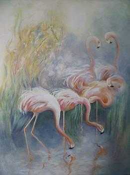 Flamingos by Eve Corin