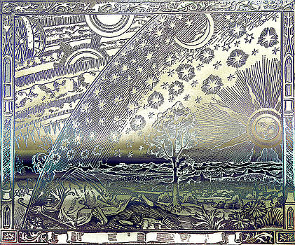 Flammarion Engraving Colored by Robert G Kernodle