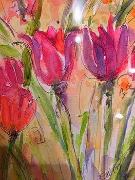 Fleurs Pinkish by Donna Eaton