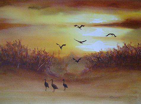 Flight of Cranes by Teresa Boston