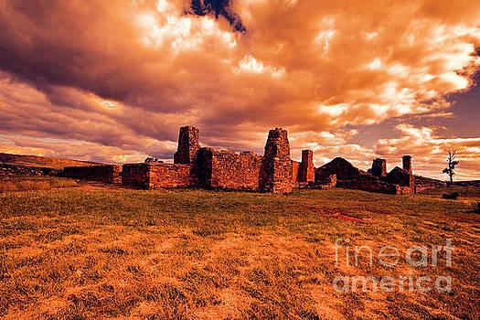 Flinders Ranges Ruins by Douglas Barnard