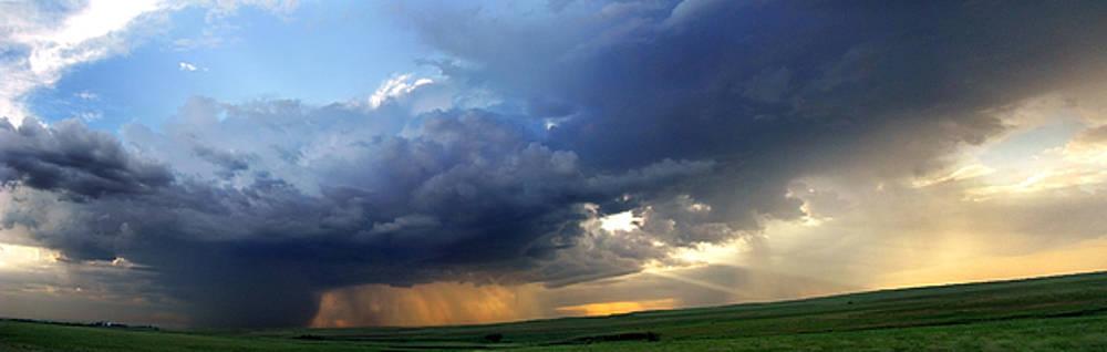 Eric Benjamin - Flint Hills Storm Panorama 2