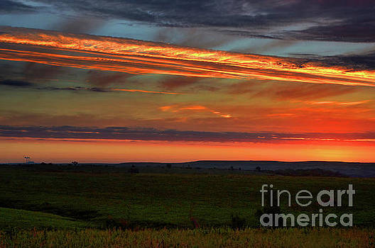Flint Hills Sunrise by Thomas Bomstad