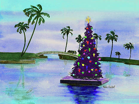 Floating Christmas Blue Sky by Renee Chastant