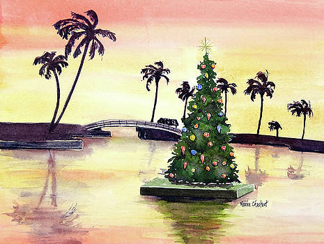 Floating Christmas Sunrise by Renee Chastant